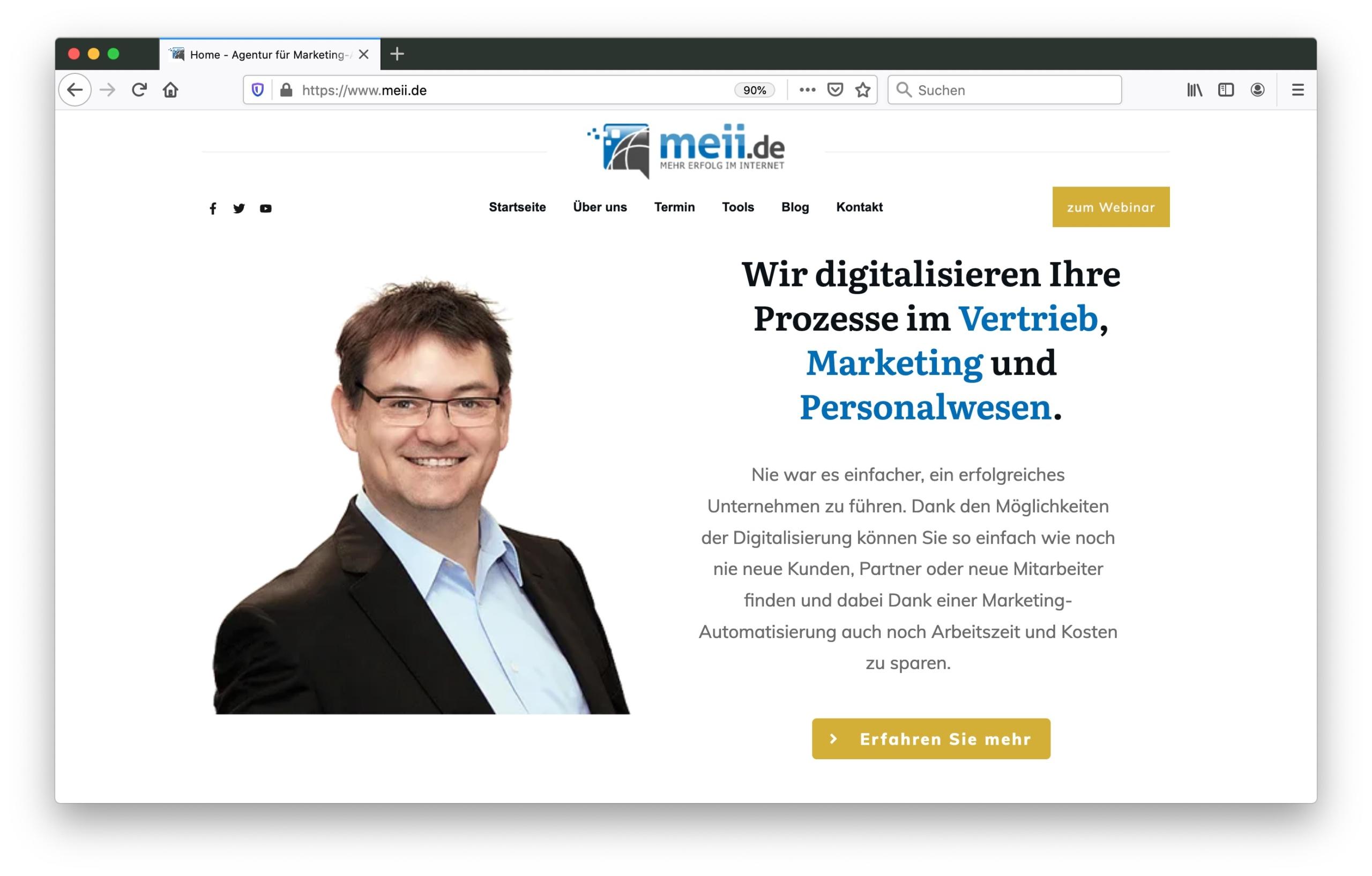 Screenshot meii.de GmbH