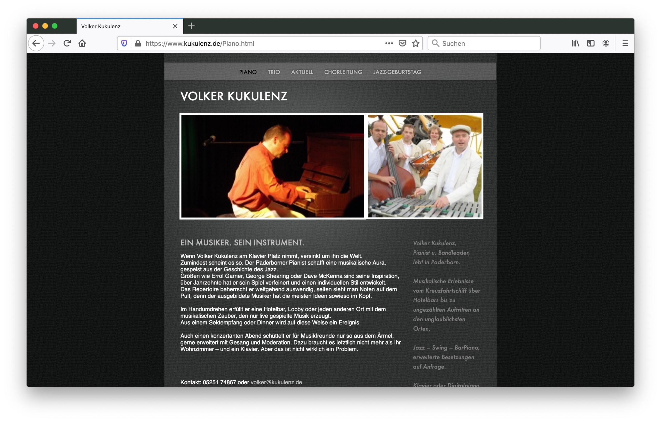 Screenshot Volker Kukulenz